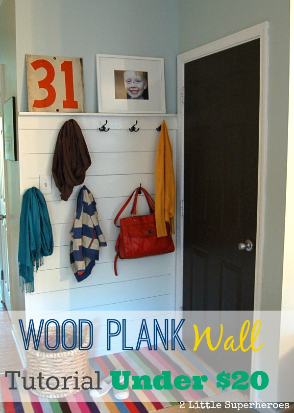 wood plank wall blog Wood Plank Wall Hallway {Part 1}
