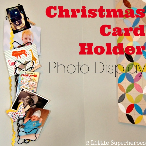 Photo display.jpg Christmas Card Photo Display Makeover