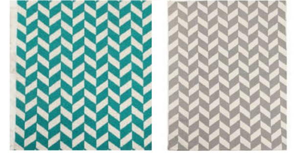 herringbone collage Modern Rugs for Under $120