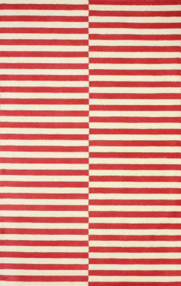 red stripped rug Modern Rugs for Under $120