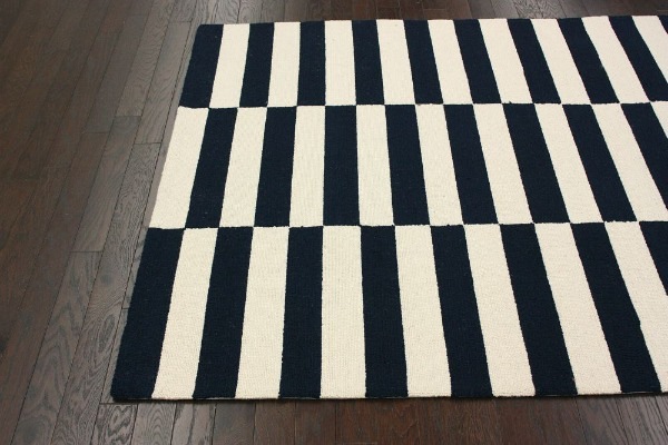 rugsusa navy block rug Modern Rugs for Under $120