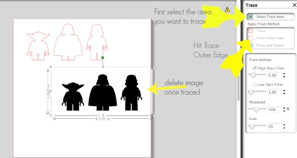 silhouette-trace-function