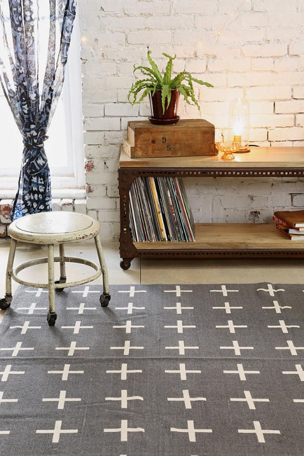 urban outfitters plus sign rug Modern Rugs for Under $120