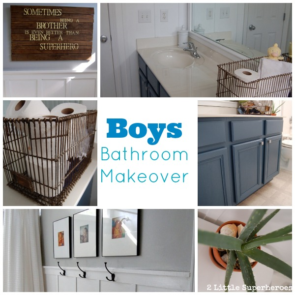 Boys bathroom makeover 2 little supeheroes2 little for Boys bathroom designs
