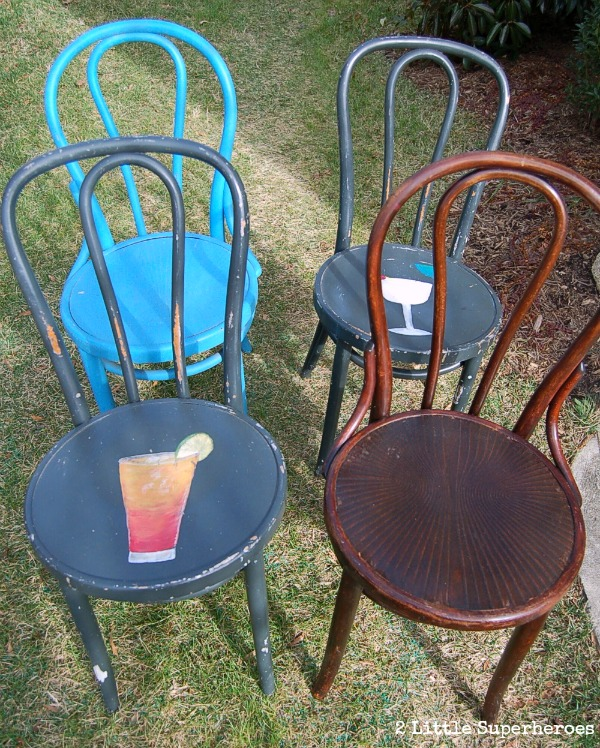 bentwood chairs painted.jpg Painted Flea Market Chairs