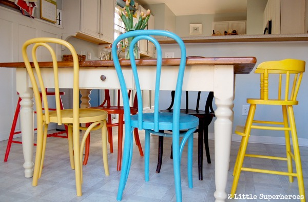 bentwood chairs.jpg Painted Flea Market Chairs