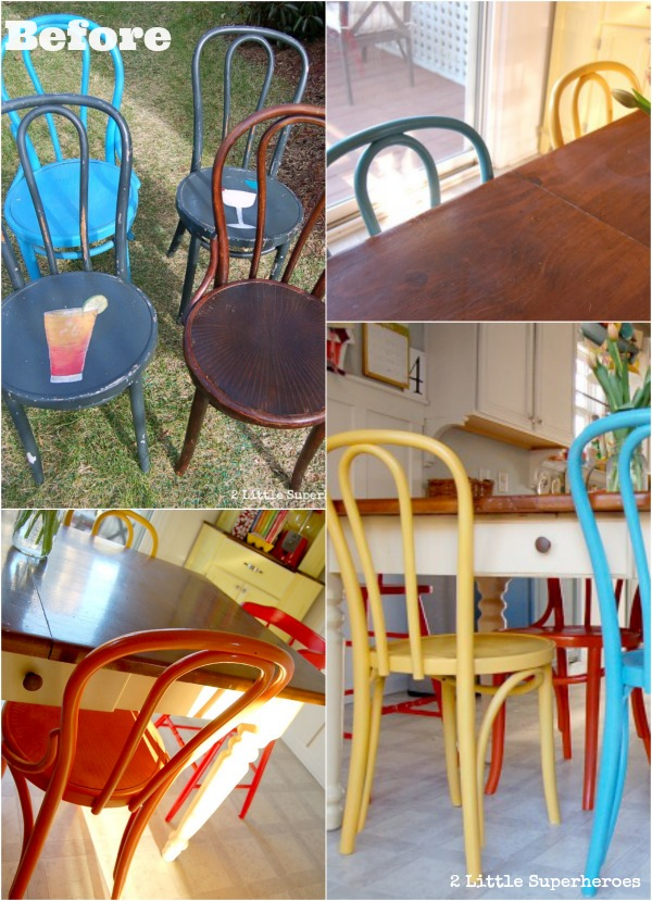 painted chairs.jpg Painted Flea Market Chairs