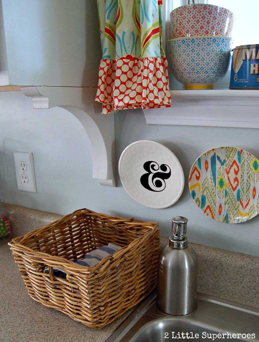 kitchen basket.jpg Painted Kitchen Makeover