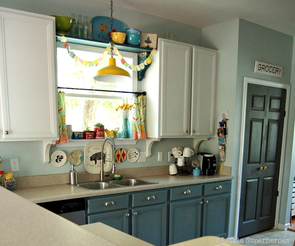 Kitchen Cabinet Makeover Ideas Paint: 2 Little Supeheroes2 Little