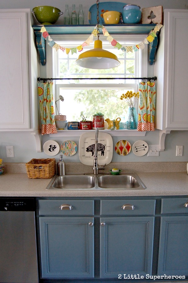 kitchen yellow light.jpg Painted Kitchen Makeover