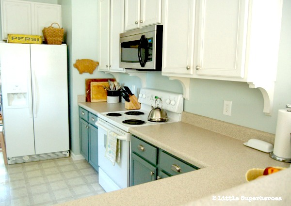 blue kitchen makeover.jpg.jpg Painted Kitchen Makeover