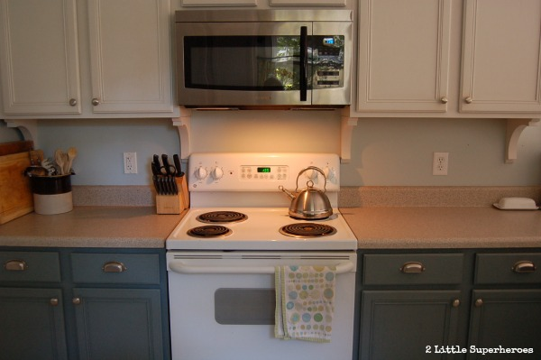 blue ktichen cabinets.jpg Painted Kitchen Makeover