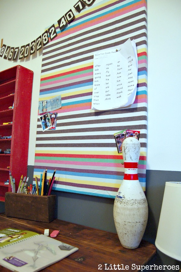 Diy fabric bulletin board 2 little supeheroes2 little for Ikea cork board