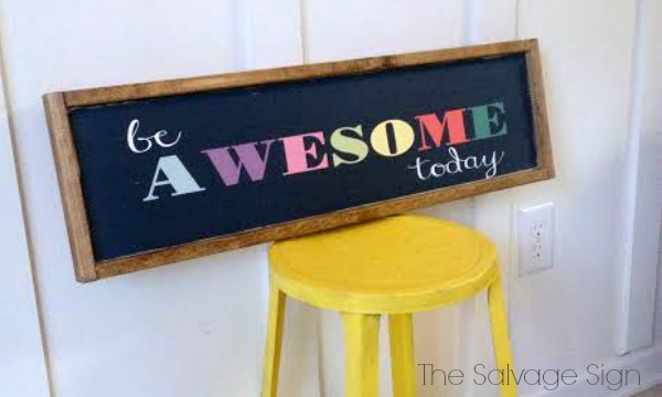be-awesome-sign