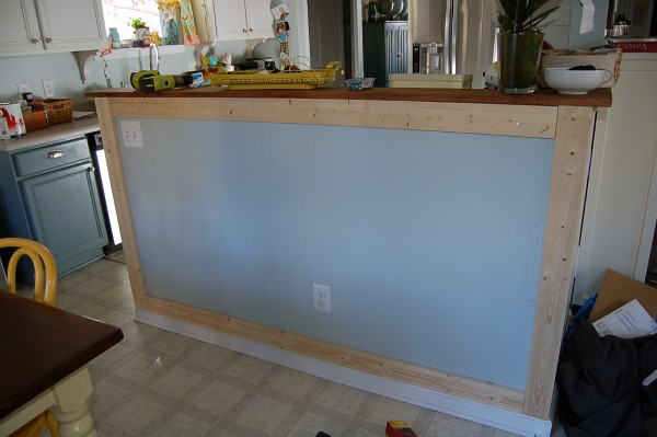 adding board and batten kitchen Living with the Kitchen Peninsula