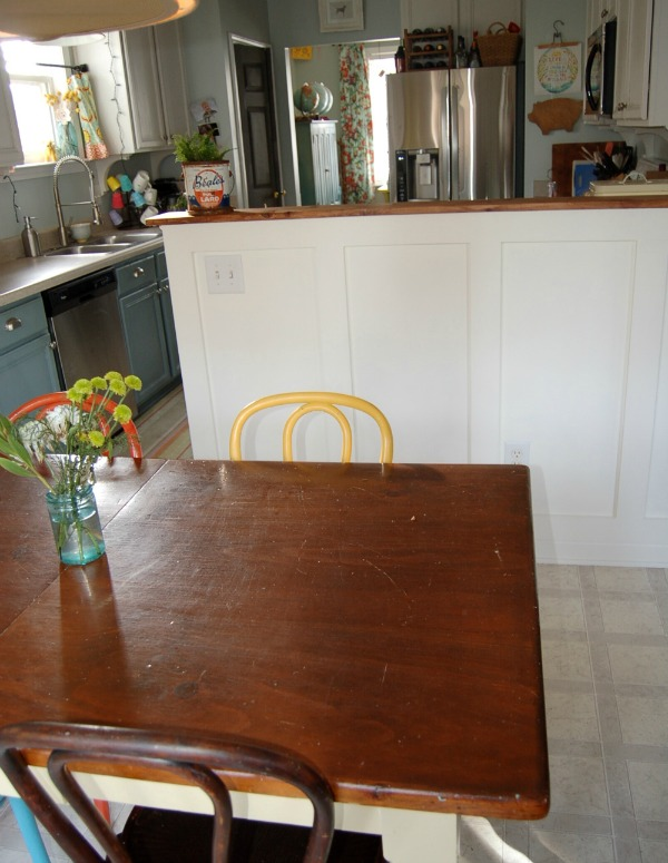 kitchen island board and batten Living with the Kitchen Peninsula