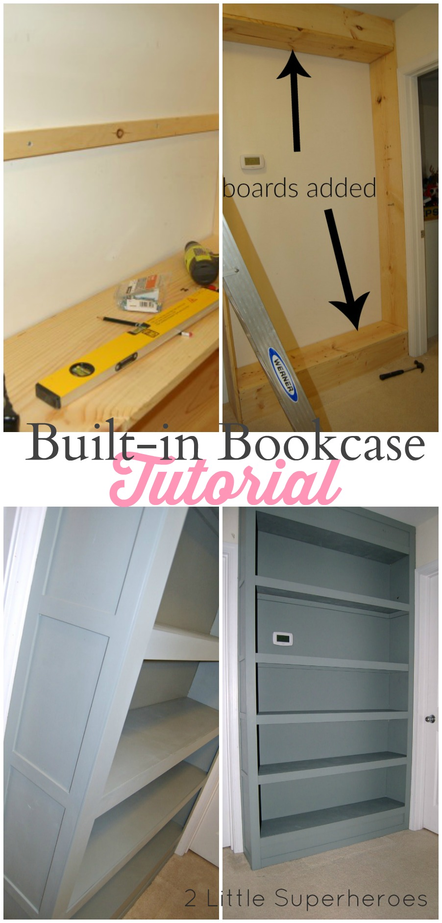 tutorial built in bookcase Built In Bookcase Tutorial