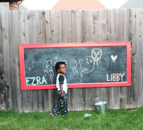 Red Outdoor Chalkboard